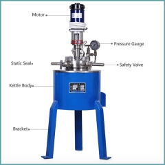 Lab Testing Chemical Reactor Of Stainless Steel