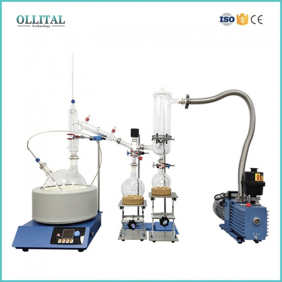 Short Path Distillation Cold Trap Glass Drying Tower
