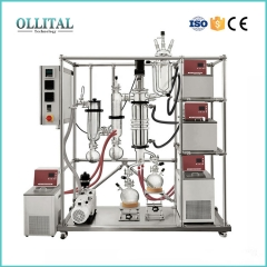 Industrial Short Path Wiped Film Molecular Distillation For CBD Oil