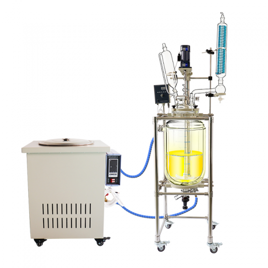 10L Electric Heating Tank Lab Glass Reaction